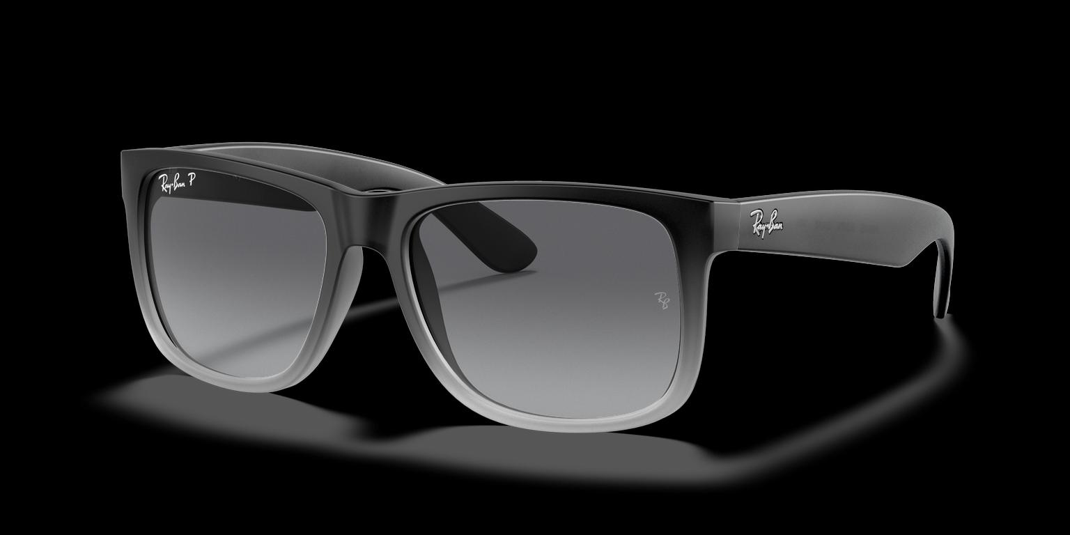 Ray-Ban RB4165 - Ray-Ban Justin Semi transparent dark gray on gray rubber remix